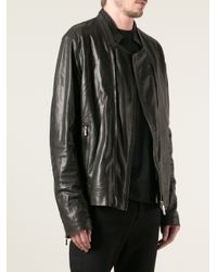Emporio Armani - Black Biker Jacket for Men - Lyst