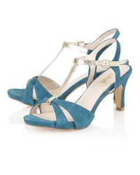 Lotus | Blue Geraldine Open Toe Shoes | Lyst