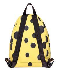 Moschino Yellow Sponge Bob Coated Canvas Backpack for men