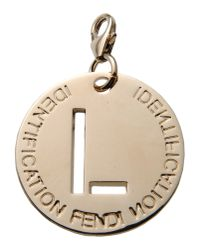 Fendi - Metallic Pendant - Lyst