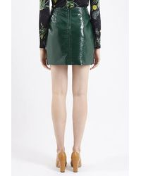 TOPSHOP - Green Maida Mini Skirt By Unique - Lyst