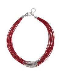 John Lewis   Purple Multi Row Cord Necklace   Lyst