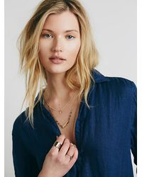 Free People | Blue Cp Shades Womens Cp Shades Indigo Pocket Tunic | Lyst