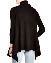 Free People | Black Draped Turtleneck Top | Lyst