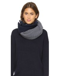 Tory Burch | Blue Reversible Striped Scarf | Lyst