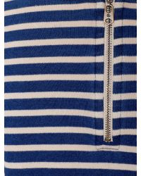 Blue breton stripe snood download