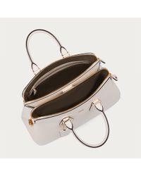 Bally Natural Berkeley Medium Women ́s Medium Leather Top Handle Bag In Bone