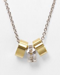 """Marc By Marc Jacobs - Metallic Cut It Out Logo Donut Necklace, 26"""" - Lyst"""