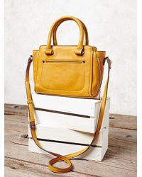 Free People - Yellow Womens Mini Mott Crossbody - Lyst