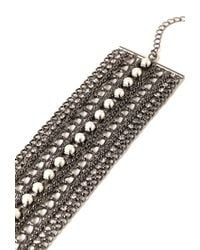 Forever 21 - Metallic Layered Mixed Chain Bracelet - Lyst