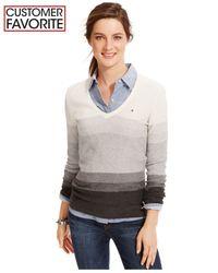 Tommy Hilfiger | Gray Ombré-stripe Sweater | Lyst