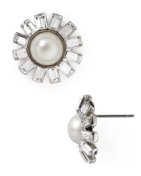 Ralph Lauren | Metallic Lauren Floral Stud Earrings | Lyst