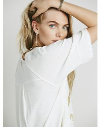 Free People - White We The Free Womens We The Free Tailgate Graphic Tee - Lyst