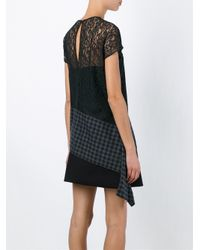 Carven - Black Paneled Lace Top - Lyst