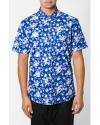 7 Diamonds | Blue All Of Me Short Sleeve Shirt for Men | Lyst
