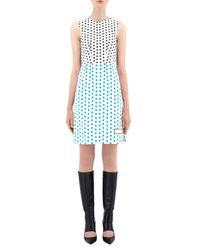J.W.Anderson - Multicolor Shift Dress W/ Stitch Detail - Lyst