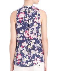Joie Blue Aruna Floral-print Top