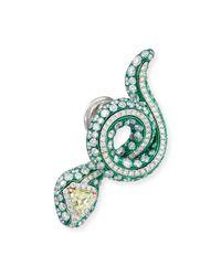 Arunashi - Metallic Snake Earrings With Yellow Diamonds - Lyst