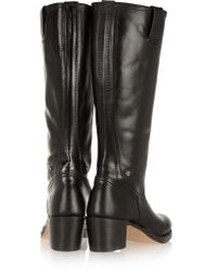 Frye Black Sabrina Leather Boots