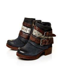 Moda In Pelle Blue Avino Low Casual Short Boots