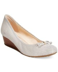Cole Haan Gray Tali Grand Lace Wedges