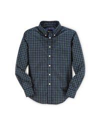 Ralph Lauren - Blue Blake Plaid Cotton Shirt for Men - Lyst