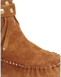 ALDO Brown Bastiena Fringe Ankle Boot
