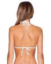 Trina Turk - White Baja Bikini Top - Lyst