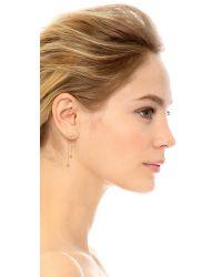 Vanessa Mooney Metallic Thunderstruck Hanging Earrings - Gold/clear