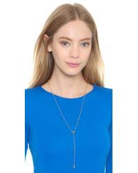 Rebecca Minkoff Metallic Beaded Y Necklace