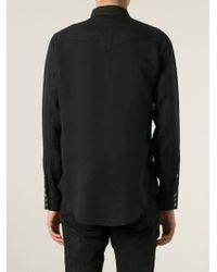 Saint Laurent - Black Classic Western Shirt for Men - Lyst