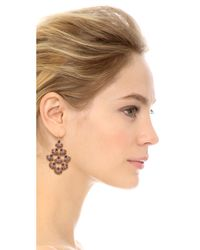 Miguel Ases - Scallop Earrings - Pink Multi - Lyst