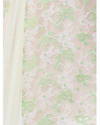 Christopher Kane Green Crocodile-Clip Lace Dress