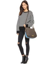 Marc By Marc Jacobs Brown Washed Up Billy Hobo Bag - Faded Aluminum