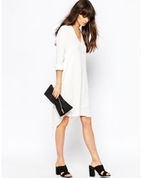 Just Female - White Skin Shirt Dress - Lyst