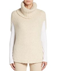 Lafayette 148 New York | Natural Cape-sleeve Turtleneck Sweater | Lyst