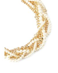 Forever 21 - Metallic Faux Pearl Twisted Necklace - Lyst