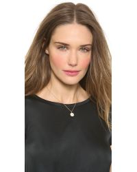 Jamie Wolf Metallic Small Pave Octagon Necklace - Gold