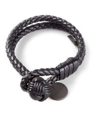 Bottega Veneta Gray Braided Bracelet