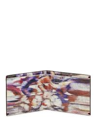 Paul Smith Brown Chocolate Cyclist Print Leather Wallet for men