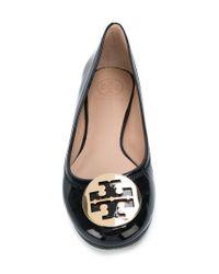 Tory Burch - Black Reva Patent Leather Ballet Flats - Lyst