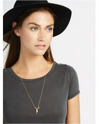 BaubleBar Metallic Pearl Abstraction Necklace-gold