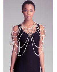 Bebe Metallic Pearl Body Jewelry