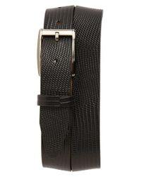 Remo Tulliani - Black 'ruben' Leather Belt for Men - Lyst