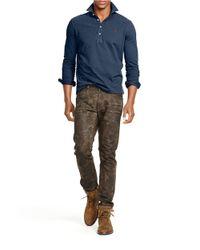 Polo Ralph Lauren | Blue Long-sleeved Mesh Estate Shirt for Men | Lyst