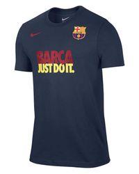 Nike Blue Men'S Short-Sleeve Fc Barcelona Club T-Shirt for men
