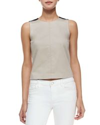 Theory - Blue Allecra Cropped Top - Lyst