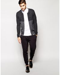 ASOS White Knitted T-shirt With Turtleneck for men