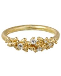 Ruth Tomlinson | Metallic Gold Diamond Granule Ring | Lyst