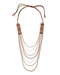 Nakamol | Metallic Layered Side-station Bead Necklace | Lyst